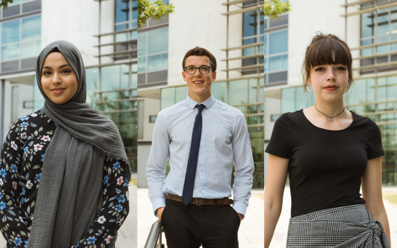 Middlesex University: Khadiza, Louis and Mayan