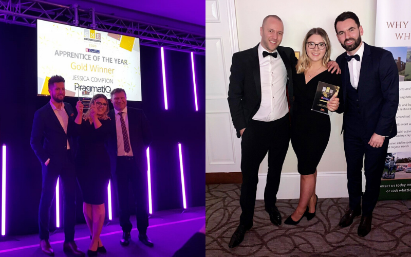 Marketing coordinator Jessica Compton of PragmatiQ Solutions wins Apprentice of the Year