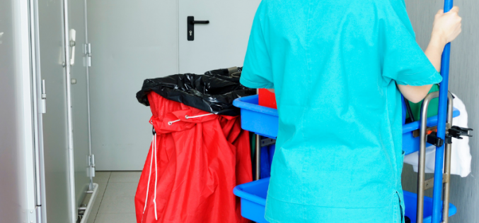 Healthcare cleaning operative