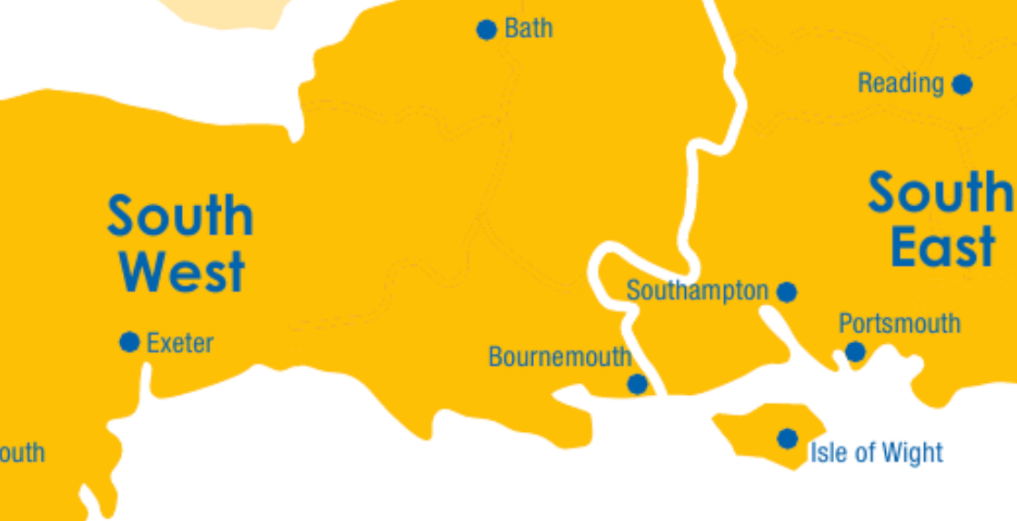 South West, South East, London